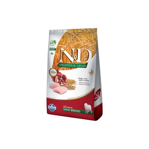 Ração N&D Ancestral Grain Para Cães Adultos Raças Grandes Sabor Frango E Romã