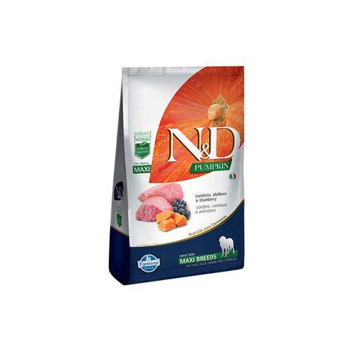 Ração N&D Pumpkin Maxi Para Cães Adultos Raças Grandes Sabor Cordeiro, Abóbora E Blueberry