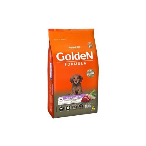 Ração Golden Fórmula Carne e Arroz para Cães Filhotes de Raças Pequenas