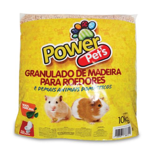 Granulado De Madeira Power Pets Para Caixa de Roedores