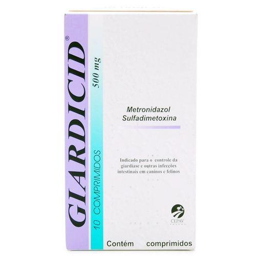 Antibiótico Giardicid Cepav 500 mg