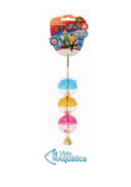 Brinquedo De 3 Bolas Com Sino Para Pássaros