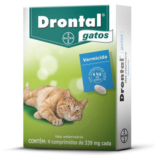 Vermífugo Bayer Drontal Plus - Gatos 4 Kg