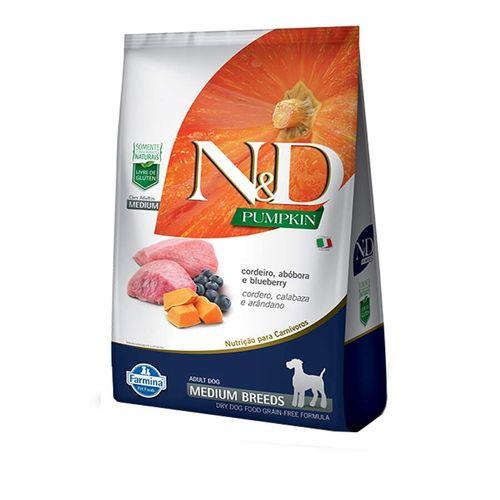 Ração N&D Pumpkin Medium Para Cães Adultos Raças Médias Sabor Cordeiro, Abóbora E Blueberry