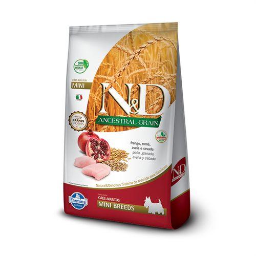 Ração N&D Ancestral Grain Para Cães Adultos Raças Pequenas Sabor Frango E Romã