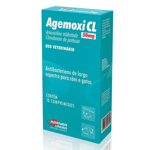 Antibiótico Agener União Agemoxi CL - 10 comprimidos