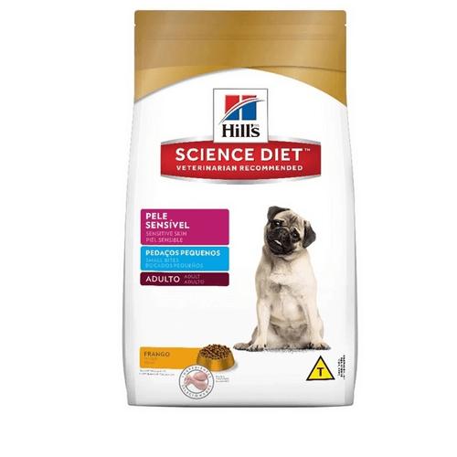 Ração Hills Science Diet Pele Sensível Pedaços Pequenos Para Cães Adultos Maior Que 1 Ano
