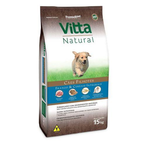 Ração Vitta Natural Cães Filhotes Raças Pequenas Frango e Cereais Integrais