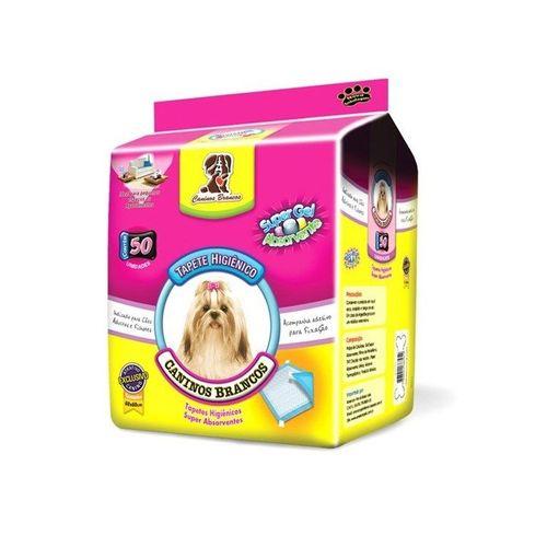 Tapete Higiênico Caninos Brancos - 60X60 cm