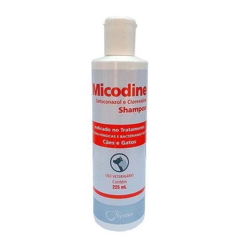 Micodine Shampoo Syntec Cetoconazol e Clorexidine para Cães e Gatos