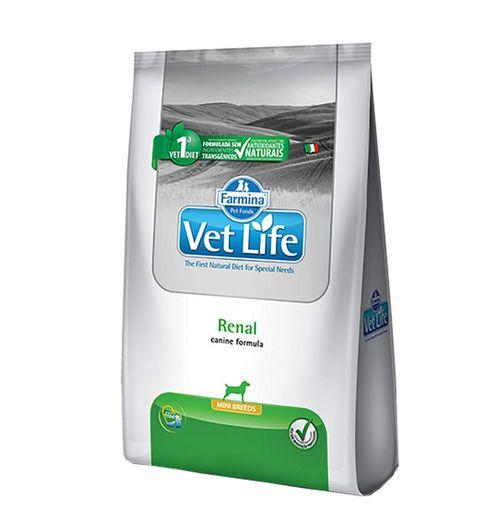 Ração Vet Life Renal Mini para Cães Adultos de Pequeno Porte