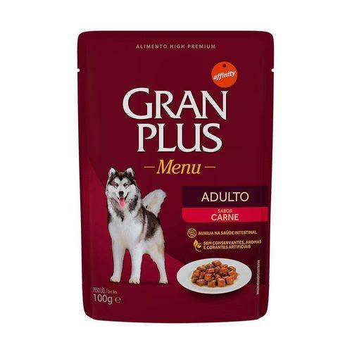 Ração Úmida GranPlus Menu Para Cães Adultos Sachê Sabor Carne