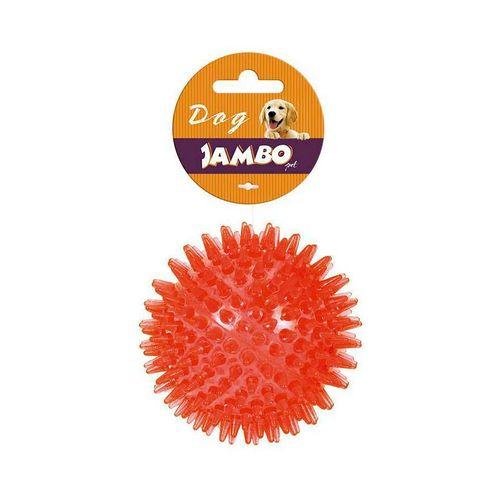 Brinquedo Bola TPR Espinho para Cães Vermelho