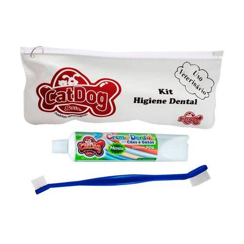 Conjunto de Higiene Dental Cat Dog Creme Dental e Escova