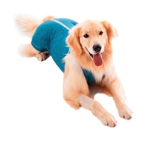 Roupa Cirúrgica Pet Med Para Macho Duo Dry Azul