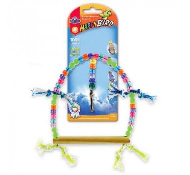 Brinquedo Happy Bird Balanço Redondo Grande Pet Injet para Calopsitas e Psitacídeos