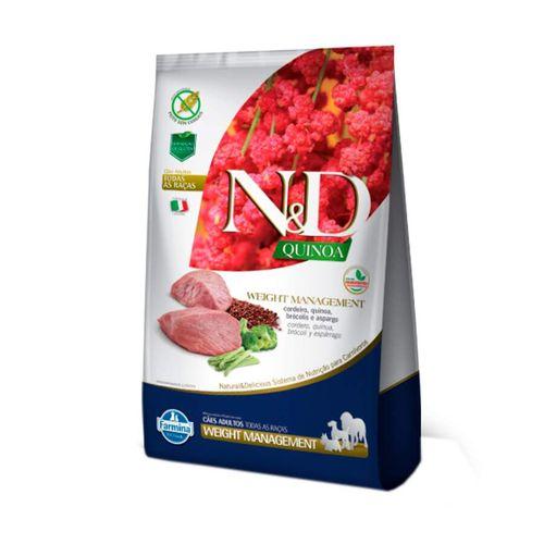Ração Quinoa N&D para Cães Weight Management sabor Cordeiro