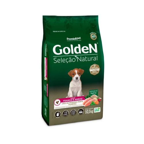 Ração Golden Seleção Natural para Cães Filhotes de Raças Pequenas Mini Bits