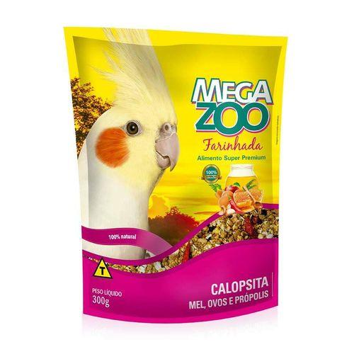 Ração Farinhada Megazoo para Calopsitas sabor Mel e Ovos