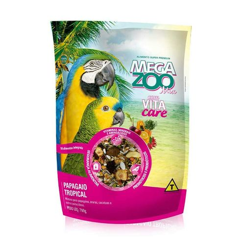 Ração Megazoo Mix para Papagaios Tropical