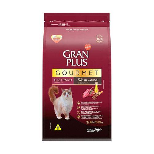 Ração GranPlus Gourmet para Gatos Castrados Sabor Ovelha