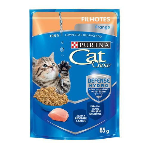 Ração Úmida Nestlé Purina Cat Chow para Gatos Filhotes sabor Frango