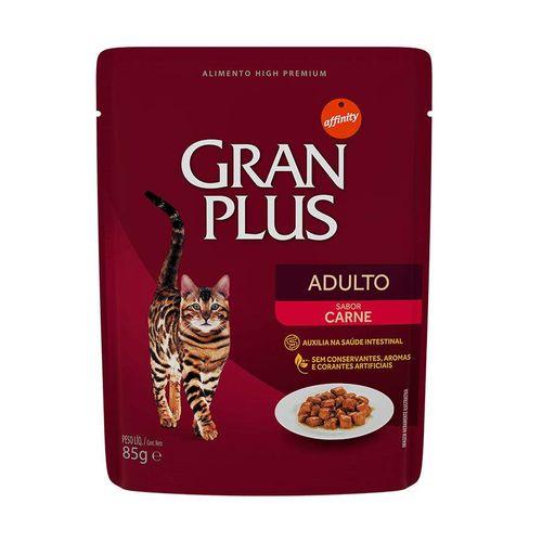 Ração Úmida Sachê GranPlus para Gatos Adultos sabor Carne