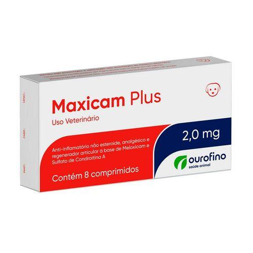 Anti-inflamatório Maxicam Plus Ourofino - 8 comprimidos