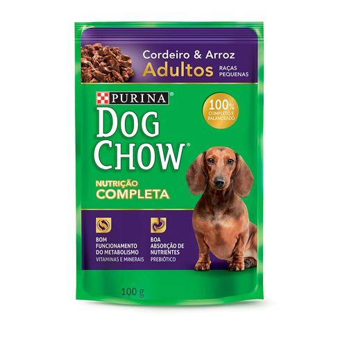 Dog Chow Sache Adulto Raças Pequenas Cordeiro Arroz