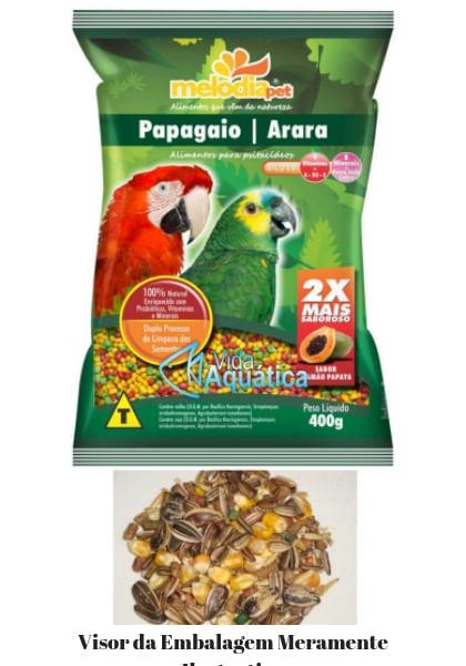 Melodia Pet Alimento Papagaio e Arara