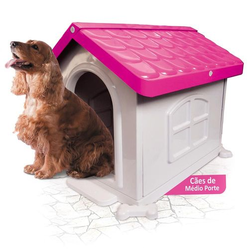 Casa Pet Injet Plástica Rosa