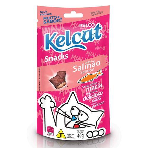 Snack Kelcat para Gatos Adultos e Filhotes Sabor Salmão