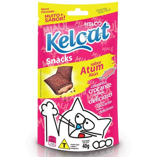 Snack Kelcat para Gatos Adultos e Filhotes Sabor Atum