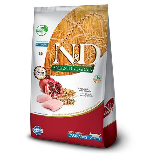 Ração N&D Ancestral Grain Gato Castrado Frango