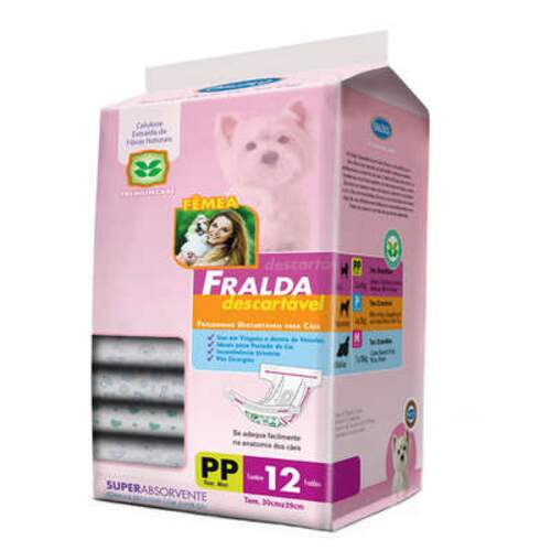 Fralda Descartável Chalesco Para Cães Fêmeas