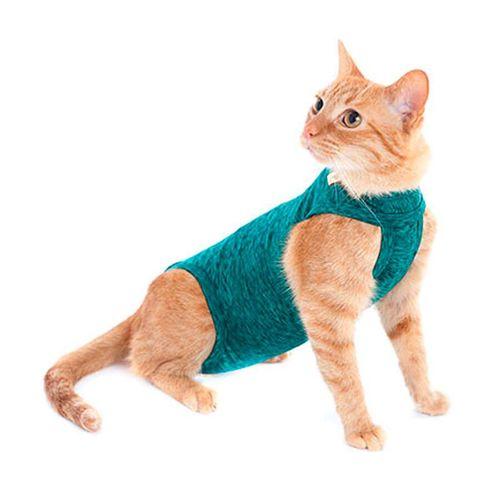 Roupa Cirúrgica Pet Med Para Gatos Duo Dry Verde