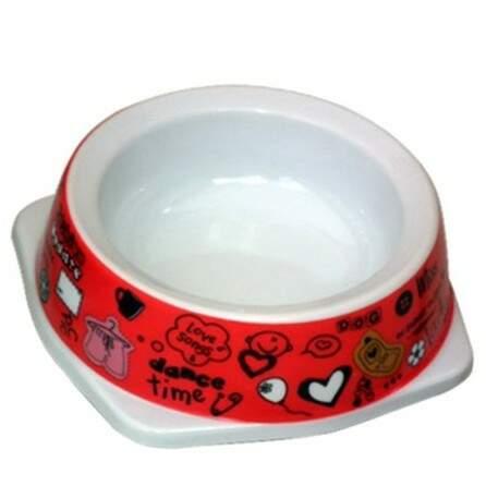 Comedouro Jambo para Gatos Cat Happy Vermelho