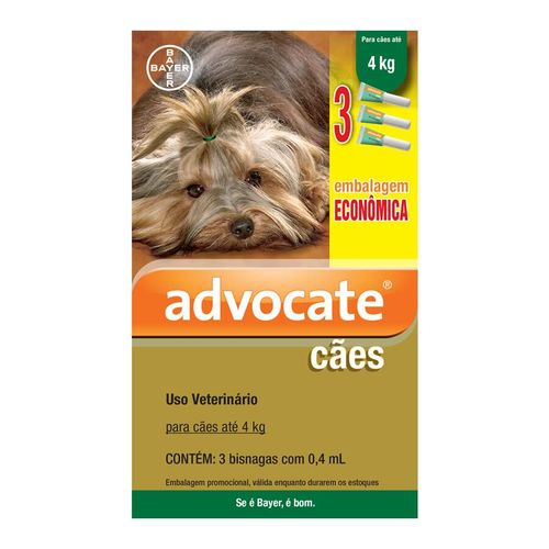 Antipulgas Econômico Advocate para Cães