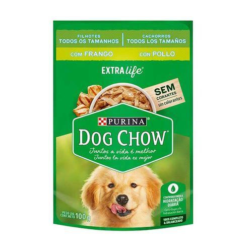 Ração Úmida Dog Chow Sachê para Cães Filhotes sabor Frango