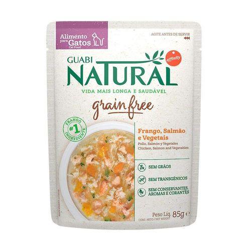 Ração Úmida para Gatos Adultos Guabi Natural Grain Free Frango Salmão e Vegetais