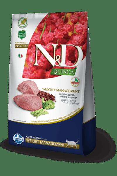 N&D Quinoa Feline Weight Management Cordeiro
