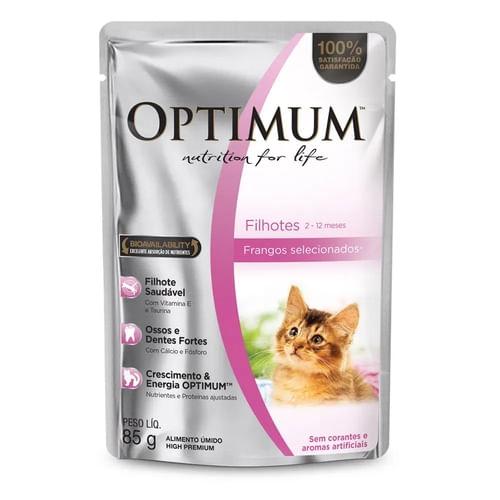 Alimento Úmido Optimum Gatos Filhotes Frango