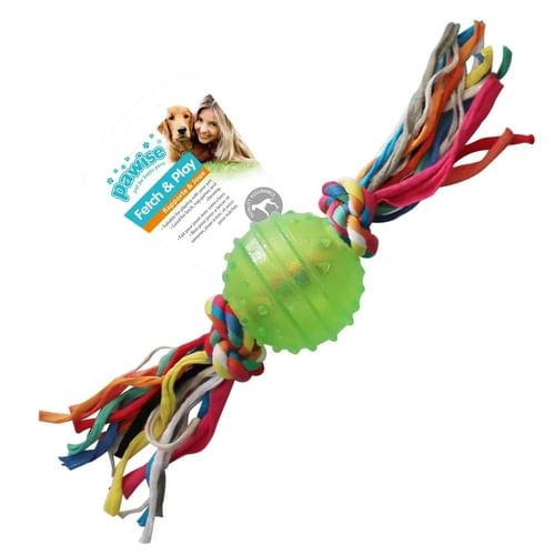 Brinquedo Bola Borracha Resistente c/ Corda