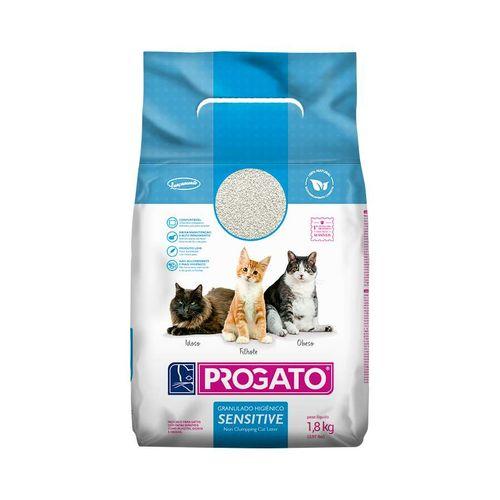 Areia Higiênica Progato para Gatos Sensitive