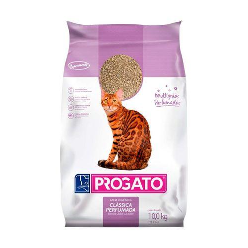 Areia Clássica Perfumada Multigrãos Progato para Gatos