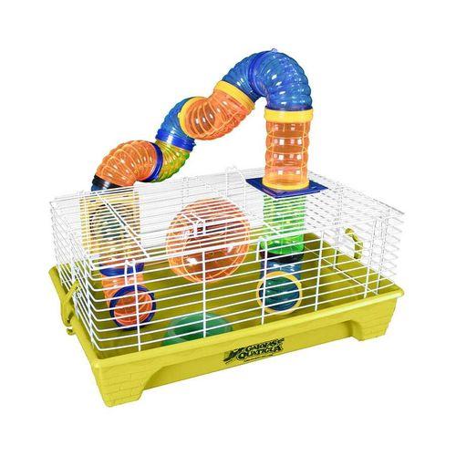 Gaiola para Roedores Quatiguá Amarela Estrela Tubo para Hamsters