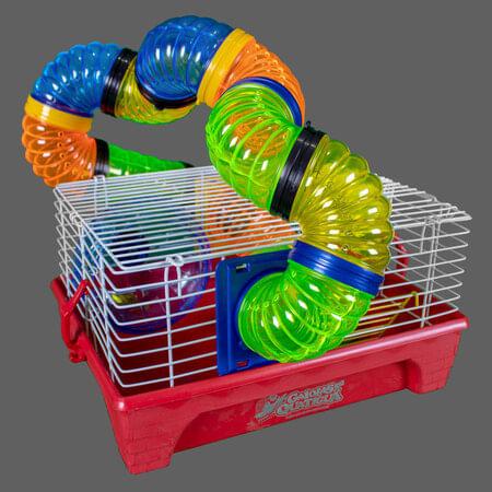 Gaiola Hamster Home Tubo Vermelha