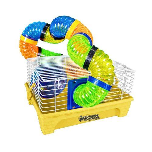 Gaiola para Roedores Quatiguá Amarela Home Tubo para Hamsters