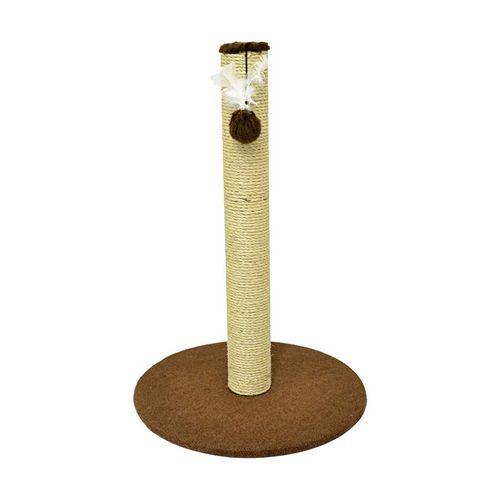 Brinquedo Arranhador São Pet Obelisco Marrom para Gatos