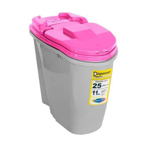 Porta Ração Plast Pet Home Dispenser Rosa